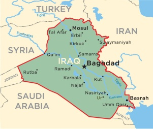 Map of Iraq. Source: University of Pennsylvania