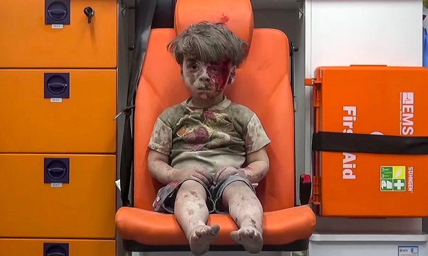 Syrian Boy Face of War
